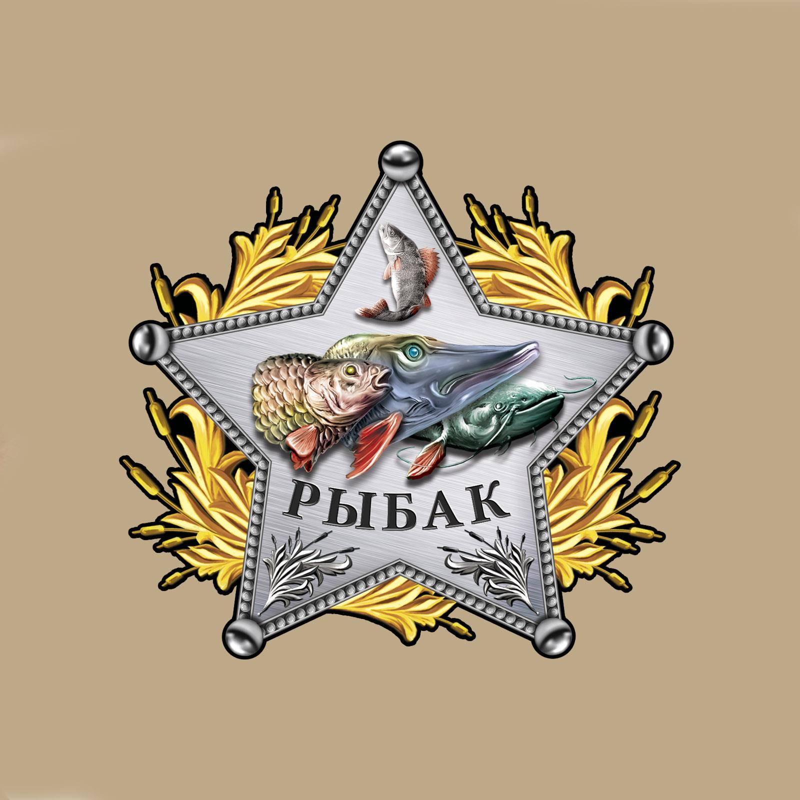 Мужская хлопковая футболка со звездой рыбака - купить оптом