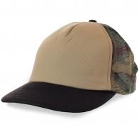 Мужская кепка без надписей. Мягкая приятная передняя часть, затылок милитари, вентиляционная сетка. Фэшн для охоты, рыбалки, туризма и на каждый день