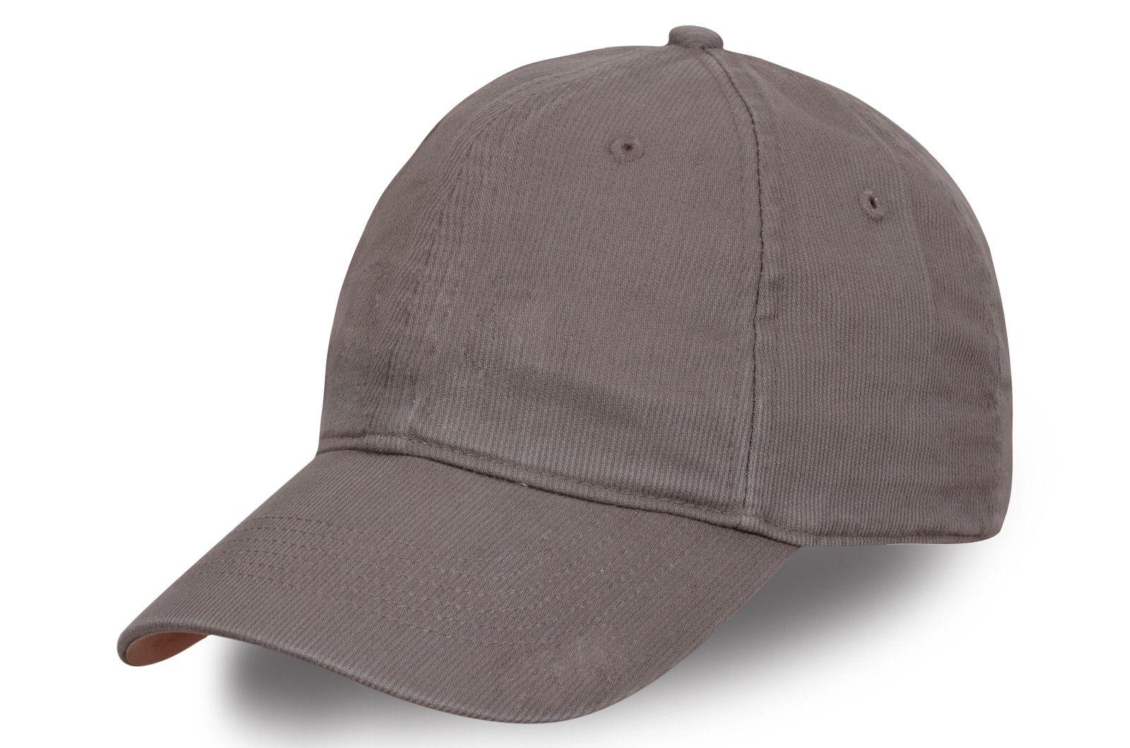 Мужская кепка из вельвета