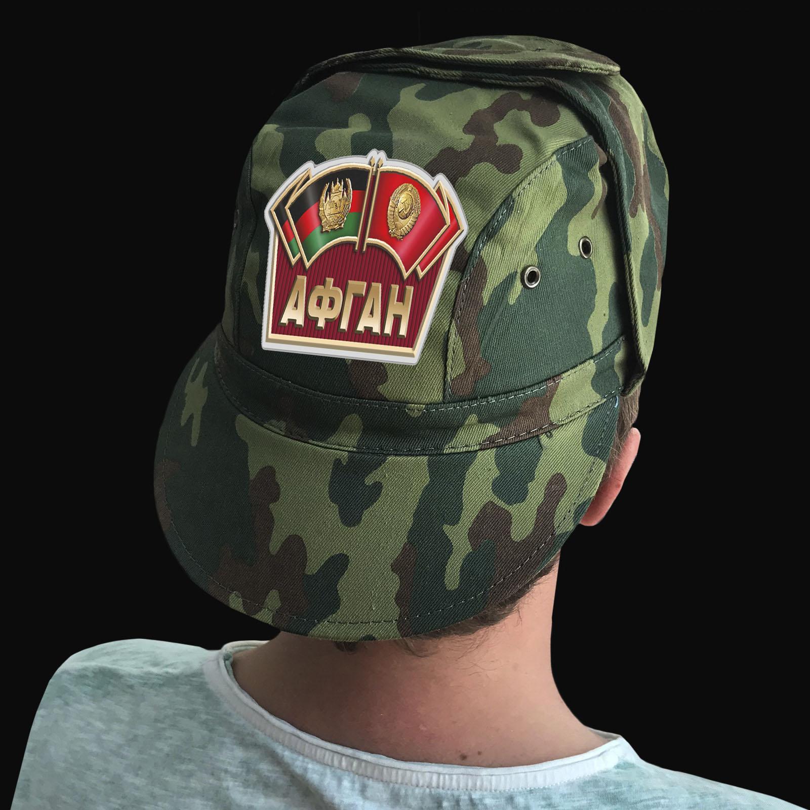 Купить мужскую кепку-камуфляж с термотрансфером Афган выгодно оптом