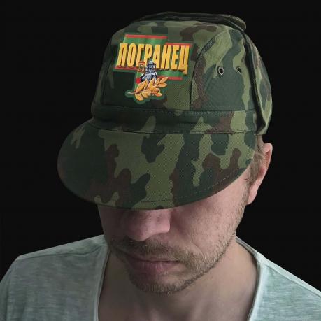 Мужская кепка-камуфляж с термотрансфером Погранец
