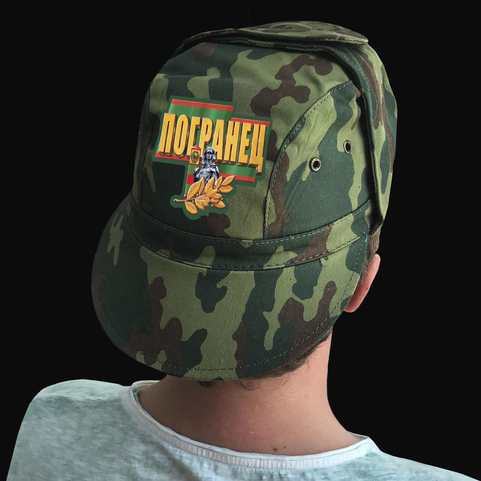 Купить мужскую кепку-камуфляж с термотрансфером Погранец оптом или в розницу