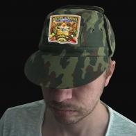 Мужская кепка камуфляж с термотрансфером Звезда Дачника