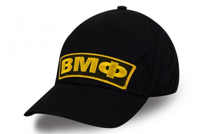 Мужская кепка ВМФ черного цвета с вышивкой