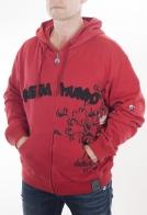 Ярко красная мужская кофта толстовка. Брендовая молодежная модель из сезонной коллекции Ragga Mundo. Подходит и под спортивный стиль, и под городской кэжуал