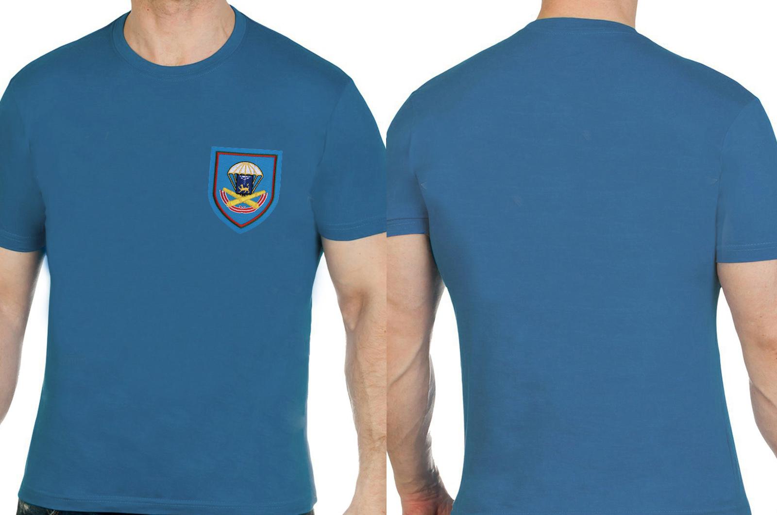 Мужская комфортная футболка с вышивкой ВДВ - заказать с доставкой