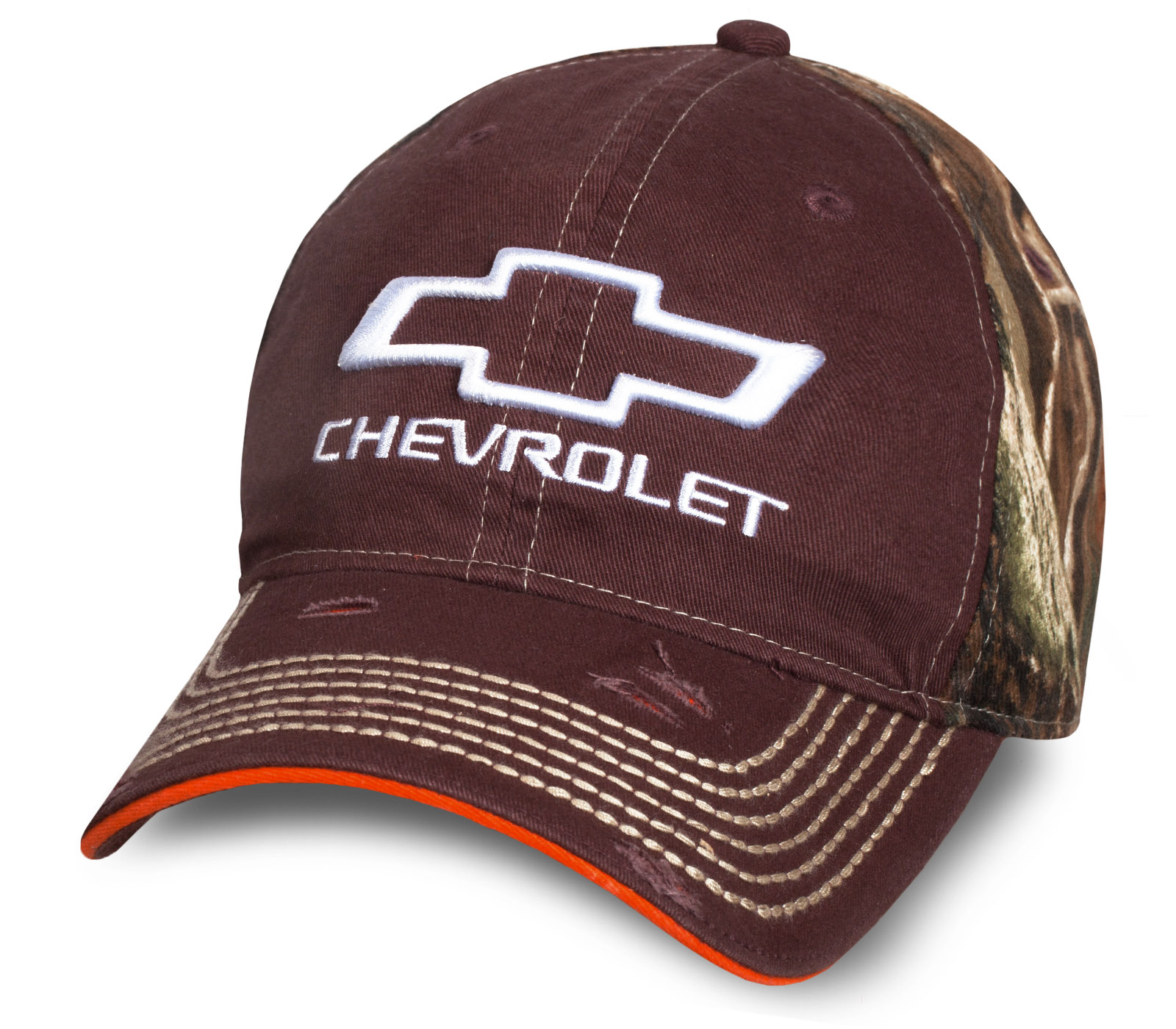 Мужская коричневая бейсболка Chevrolet