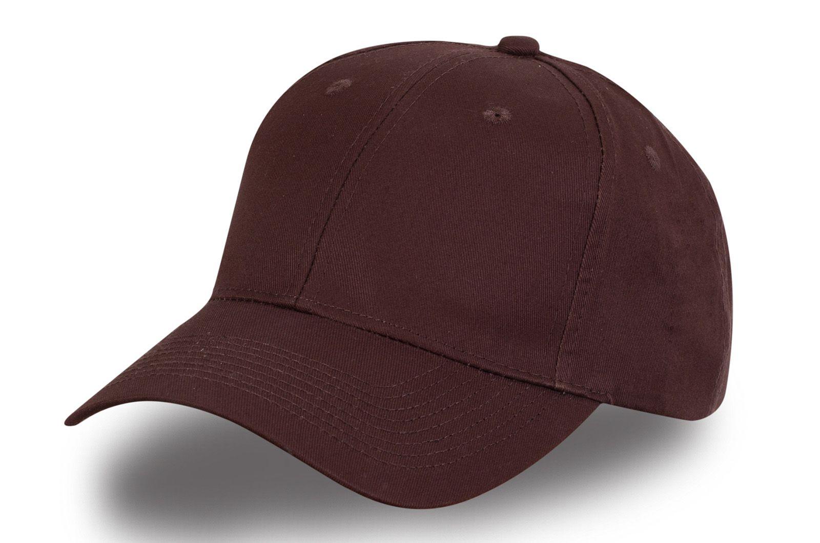 Мужская коричневая бейсболка - купить по специальной цене
