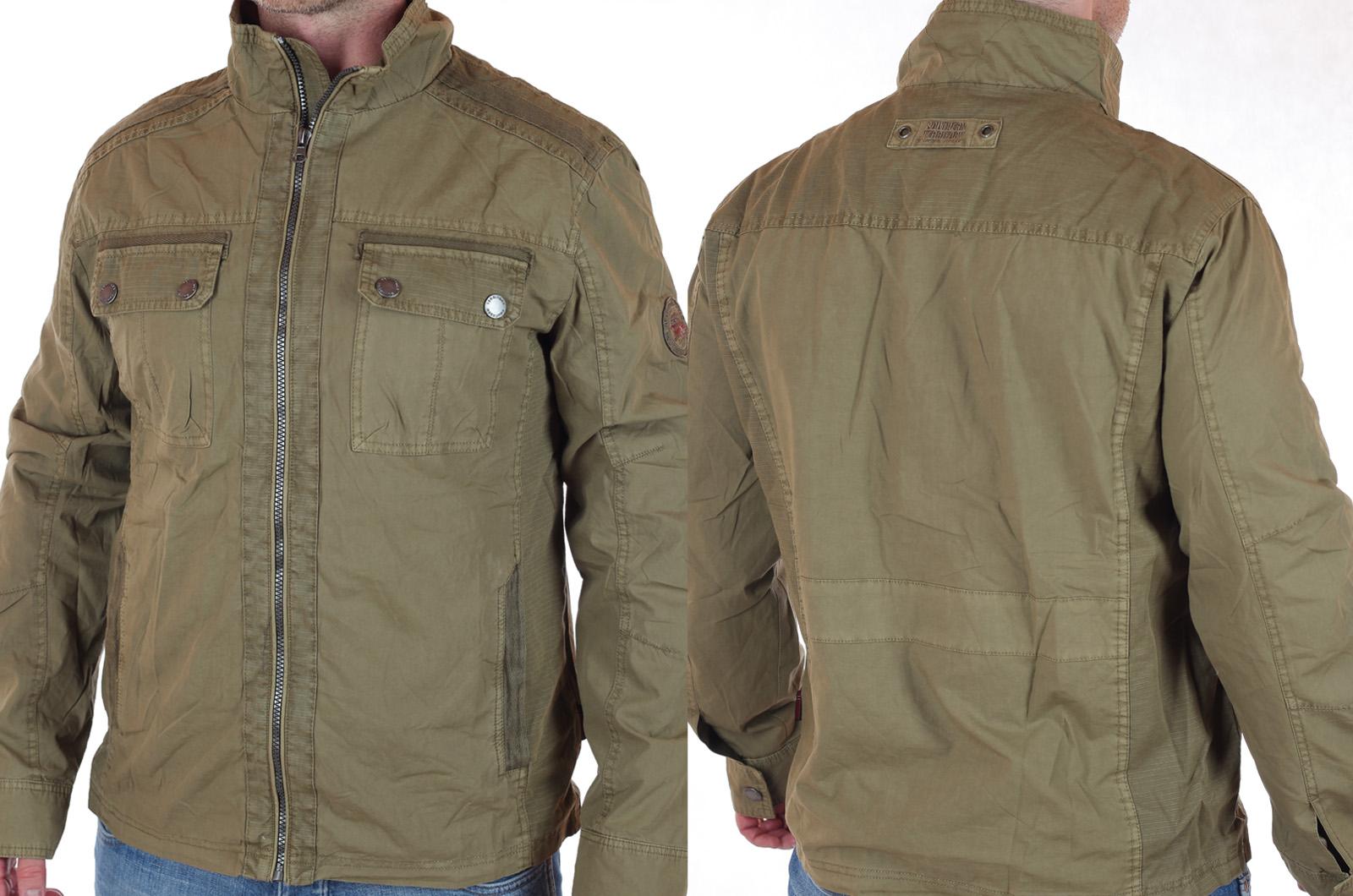 Демисезонная мужская куртка-парка Southern Territory (Норвегия). Модный милитари цвет, натуральная ткань, отсутствие дешевого декора