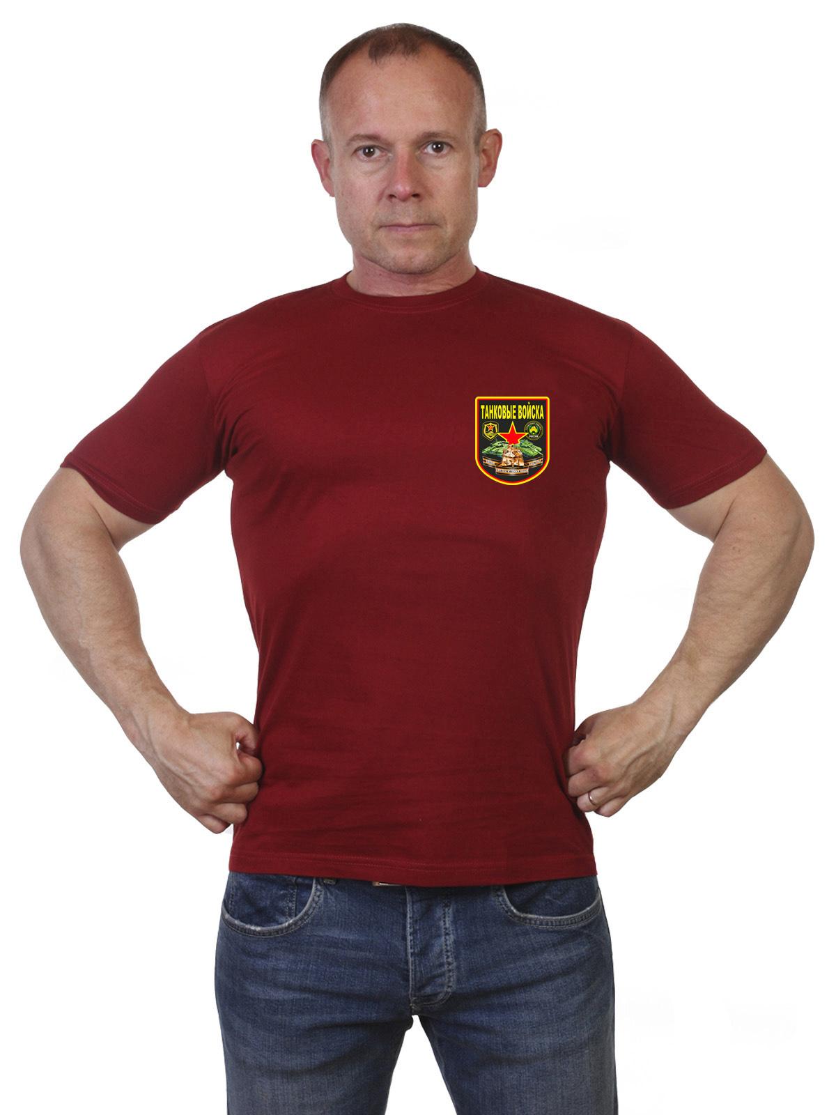 Оливковая футболка с принтом танкистов