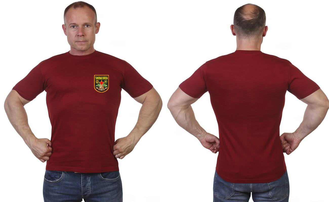 Мужская милитари футболка Танковых войск