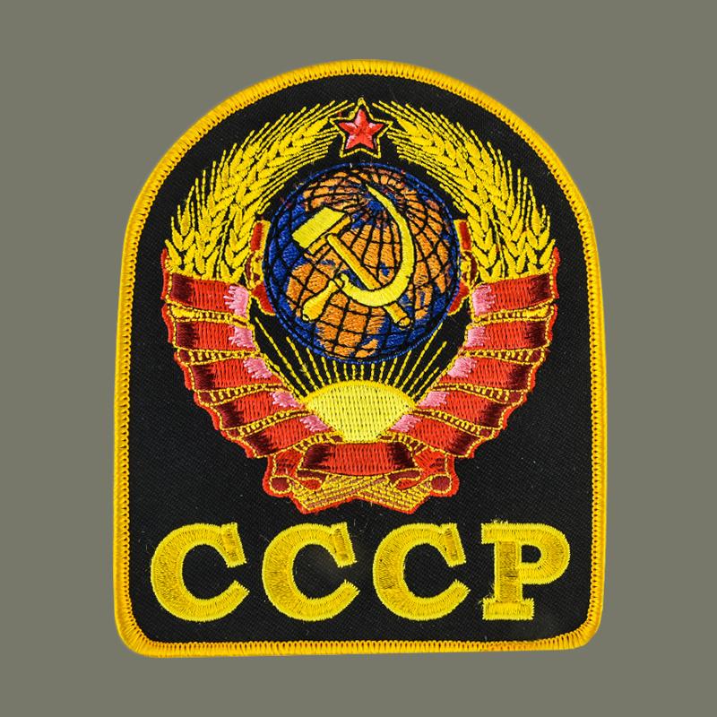 Мужская оливковая футболка с символикой СССР.
