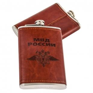 Мужская оригинальная фляга МВД России - купить по низкой цене