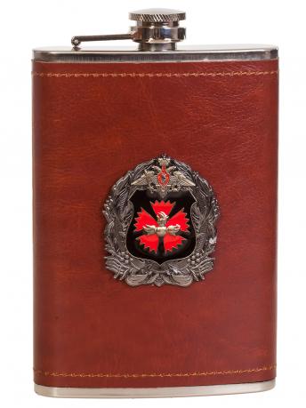 Мужская оригинальная фляга с эмблемой ГУ ГШ ВС РФ