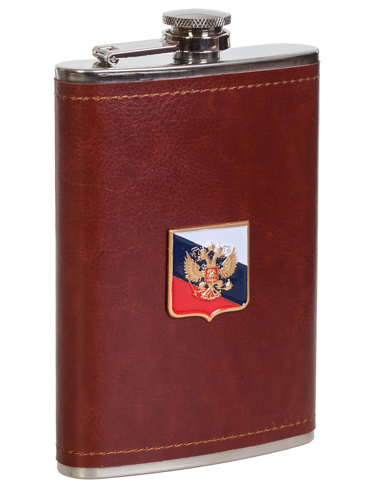 Купить мужскую оригинальную флягу с Гербом РФ с доставкой или самовывозом