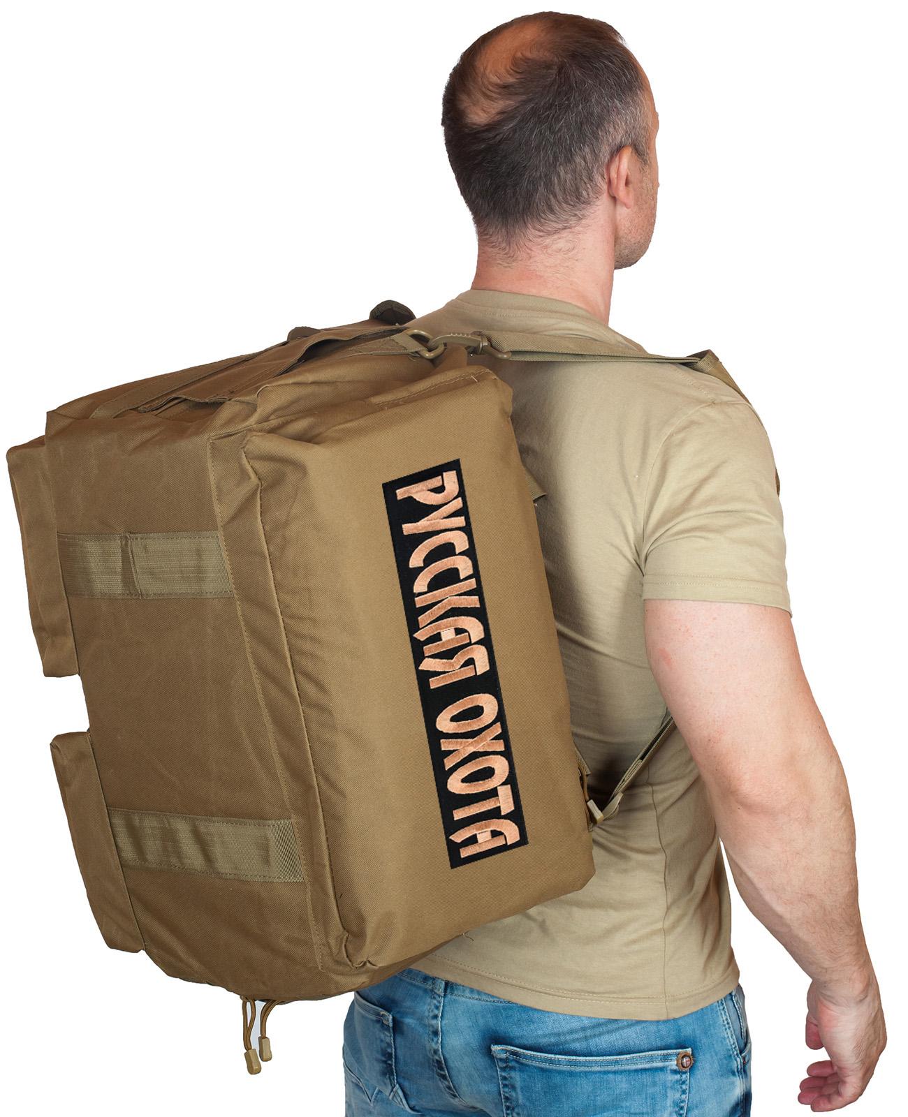 Купить мужскую походную сумку с нашивкой Русская Охота по лучшей цене