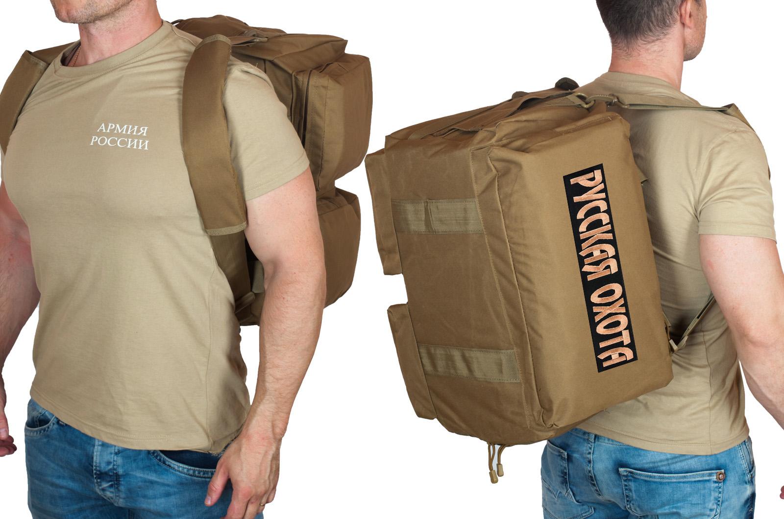 Мужская походная сумка с нашивкой Русская Охота - купить опттом