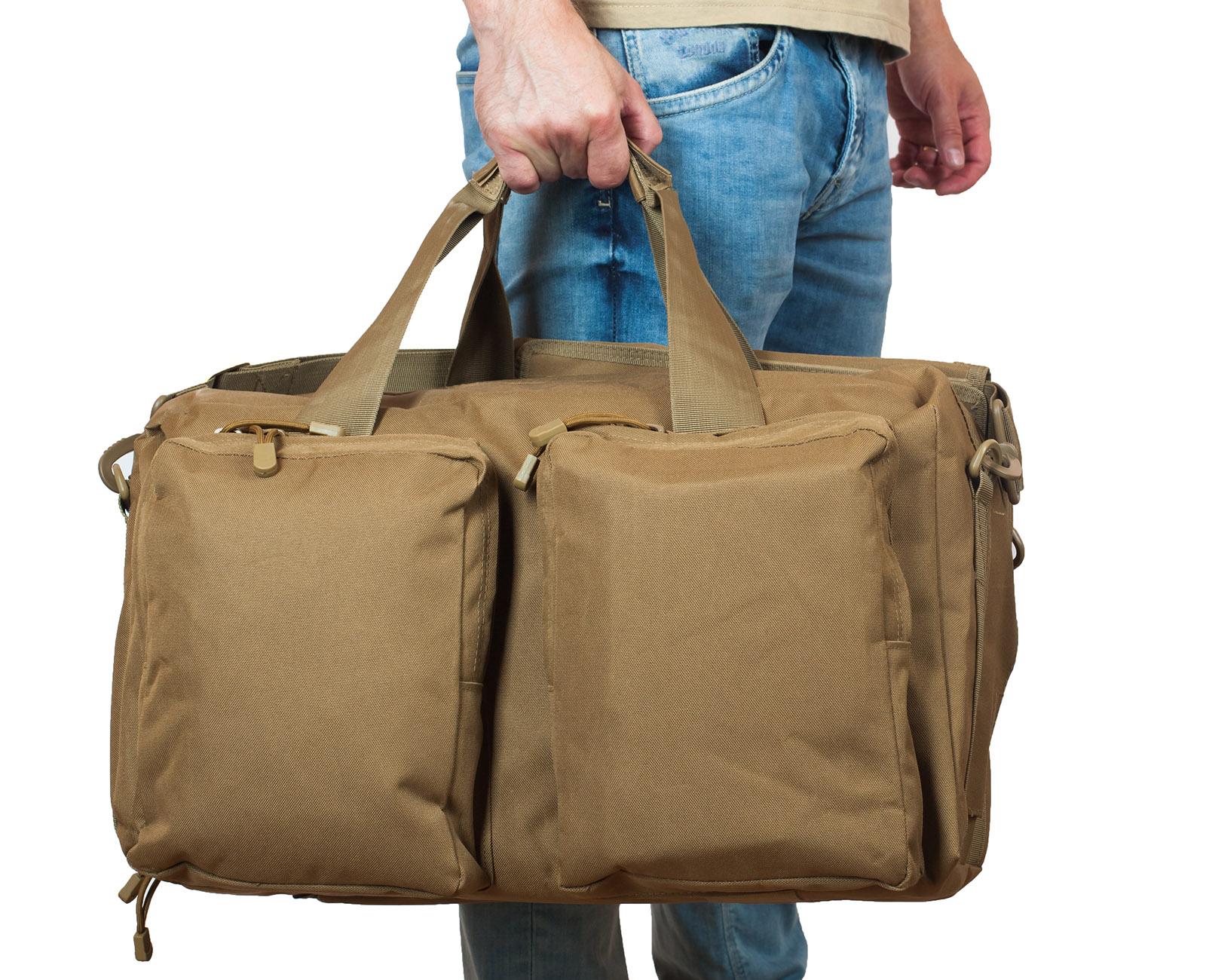 Мужская походная сумка с нашивкой Русская Охота - заказать с доставкой