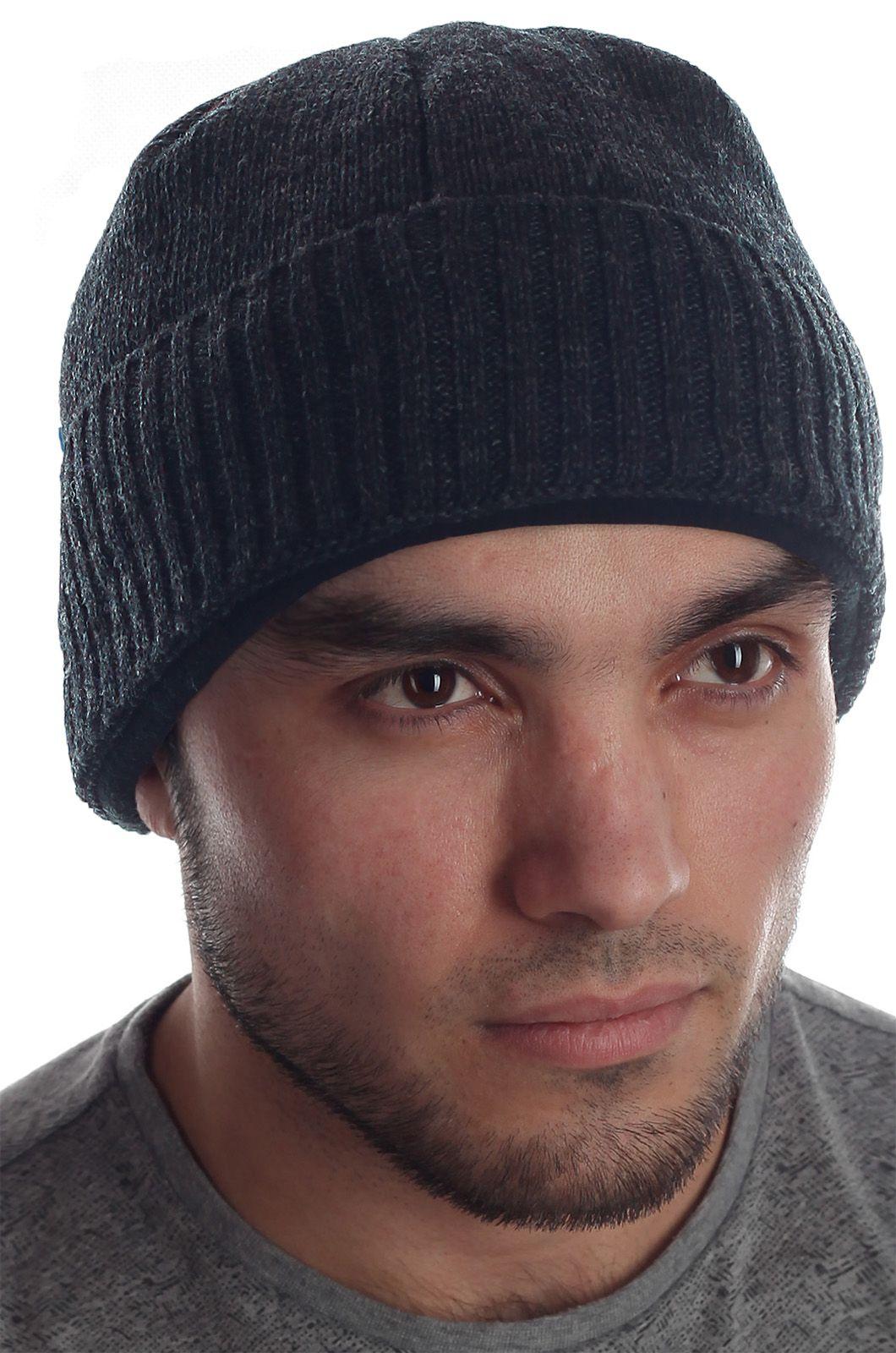 Мужская популярная утепленная флисом шапка практичная модель