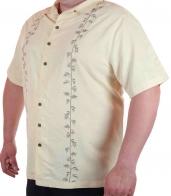 Светлая мужская рубашка Caribbean Joe на лето.