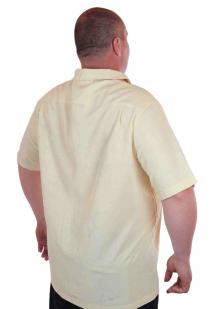 Мужская рубашка больших размеров (батал) к летнему отпуску от Caribbean Joe (США)-сзади