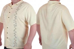 Мужская рубашка больших размеров (батал) к летнему отпуску от Caribbean Joe (США)-двойной ракурс