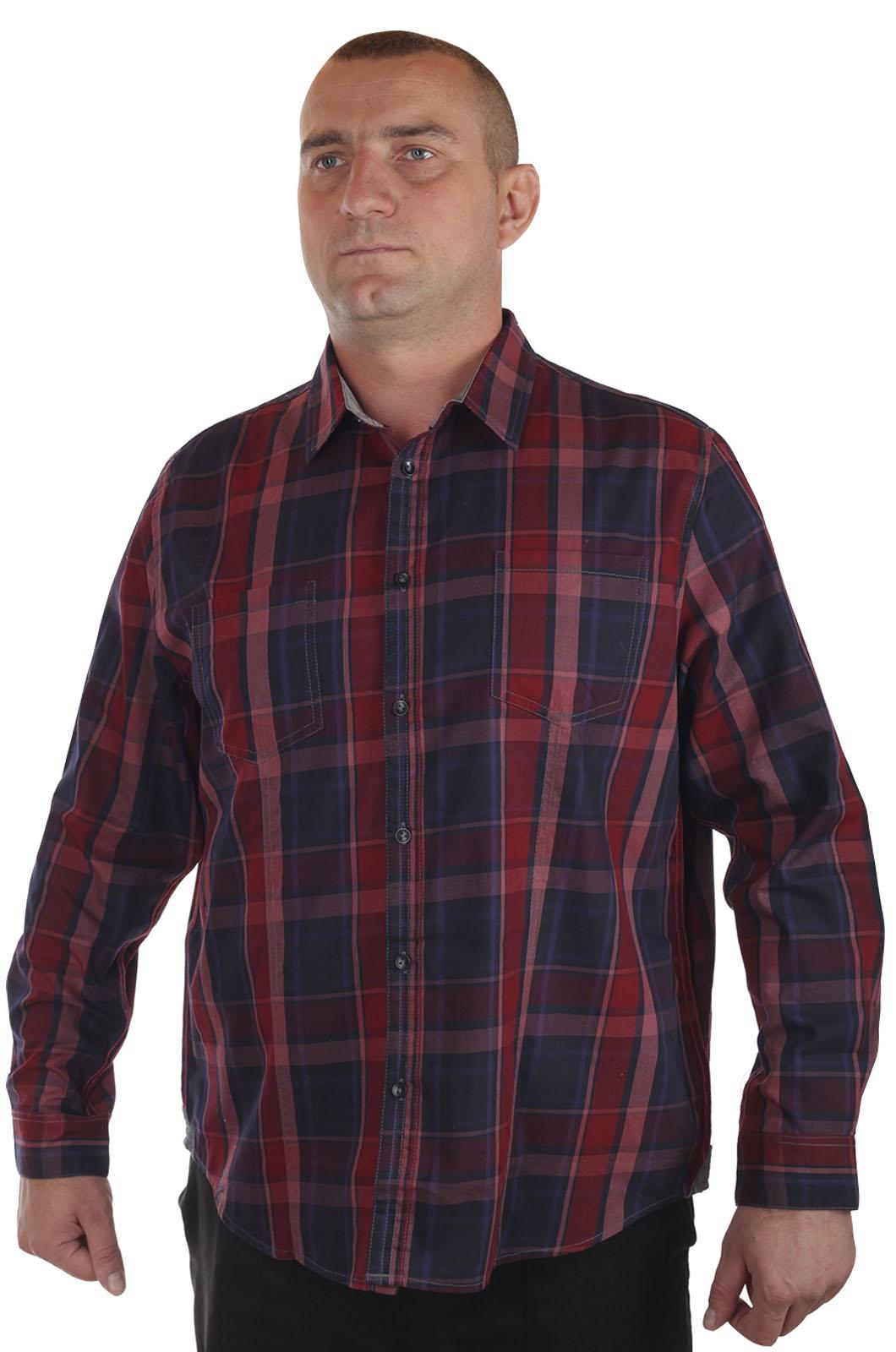Купить классическую мужскую рубашку в клетку