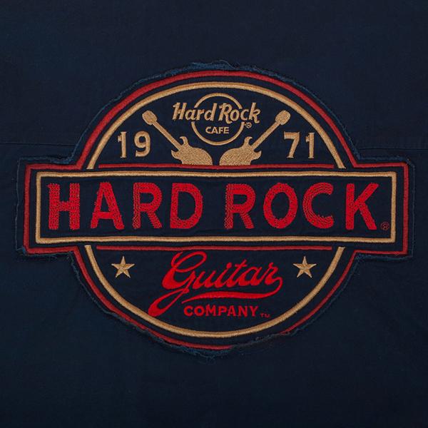 Мужская рубашка Hard Rock Guitar Company с нашивкой
