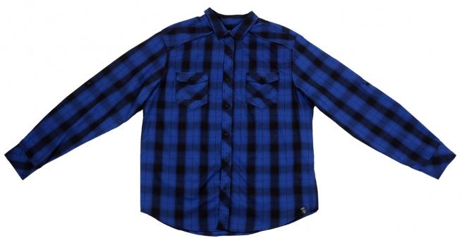 Мужская рубашка с черно-синюю клетку Surplus