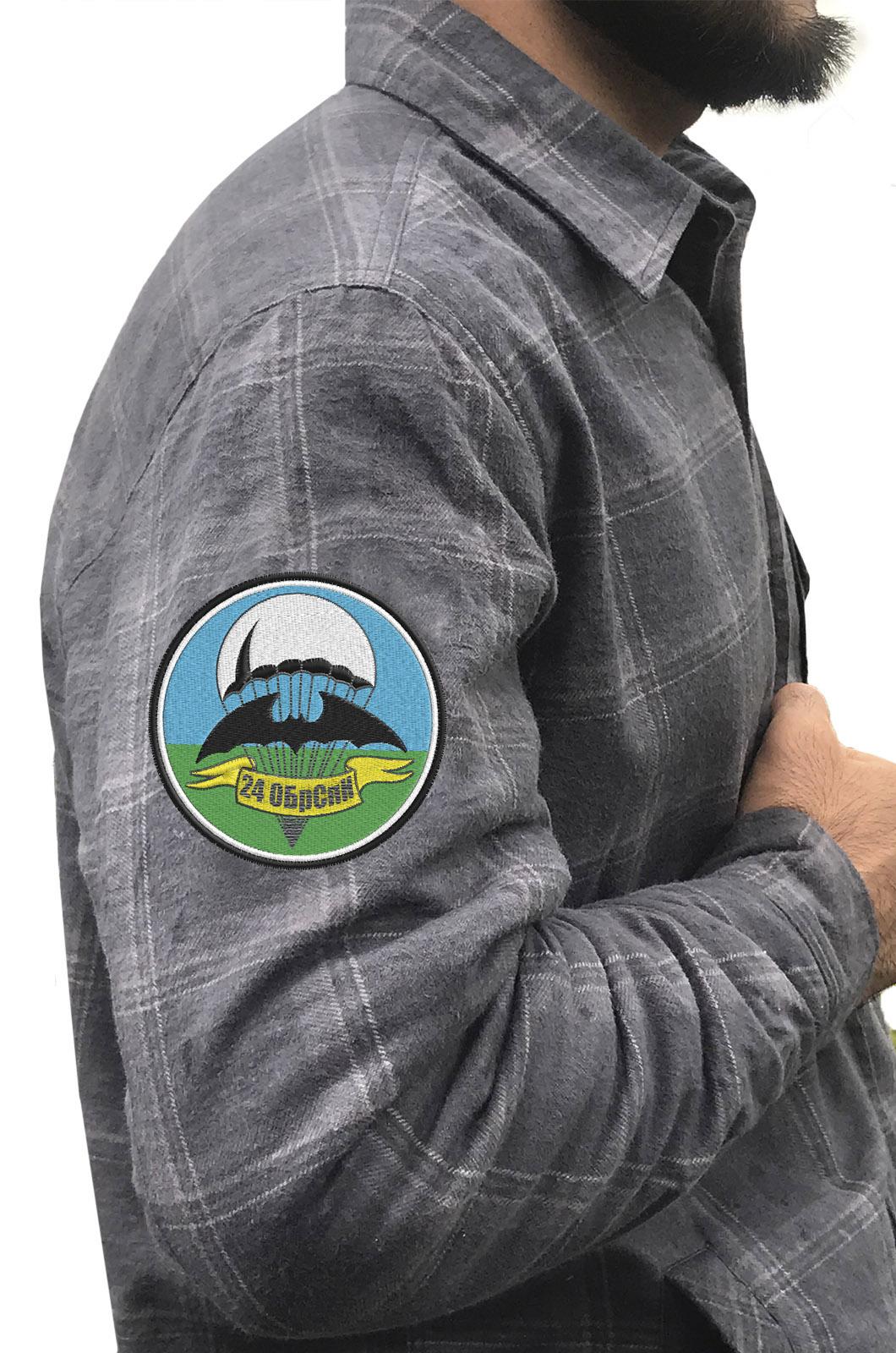 Мужская рубашка с эмблемой 24 ОБрСпН купить оптом