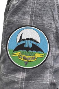 Мужская рубашка с эмблемой 24 ОБрСпН купить с доставкой