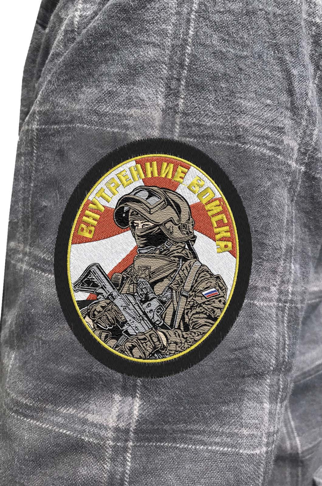 Мужская рубашка с эмблемой Внутренних войск купить оптом