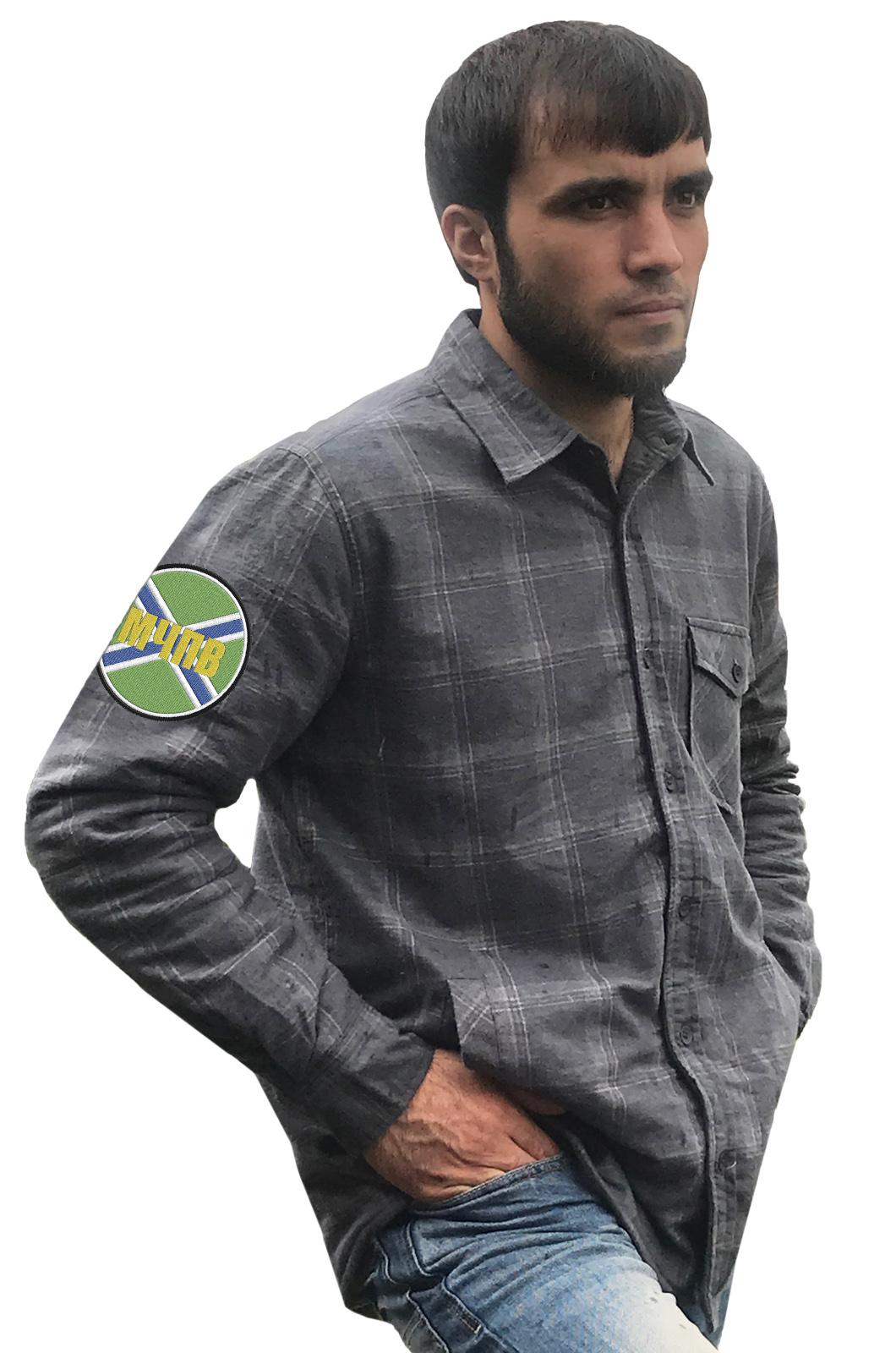 Мужская рубашка с нашивкой МЧПВ