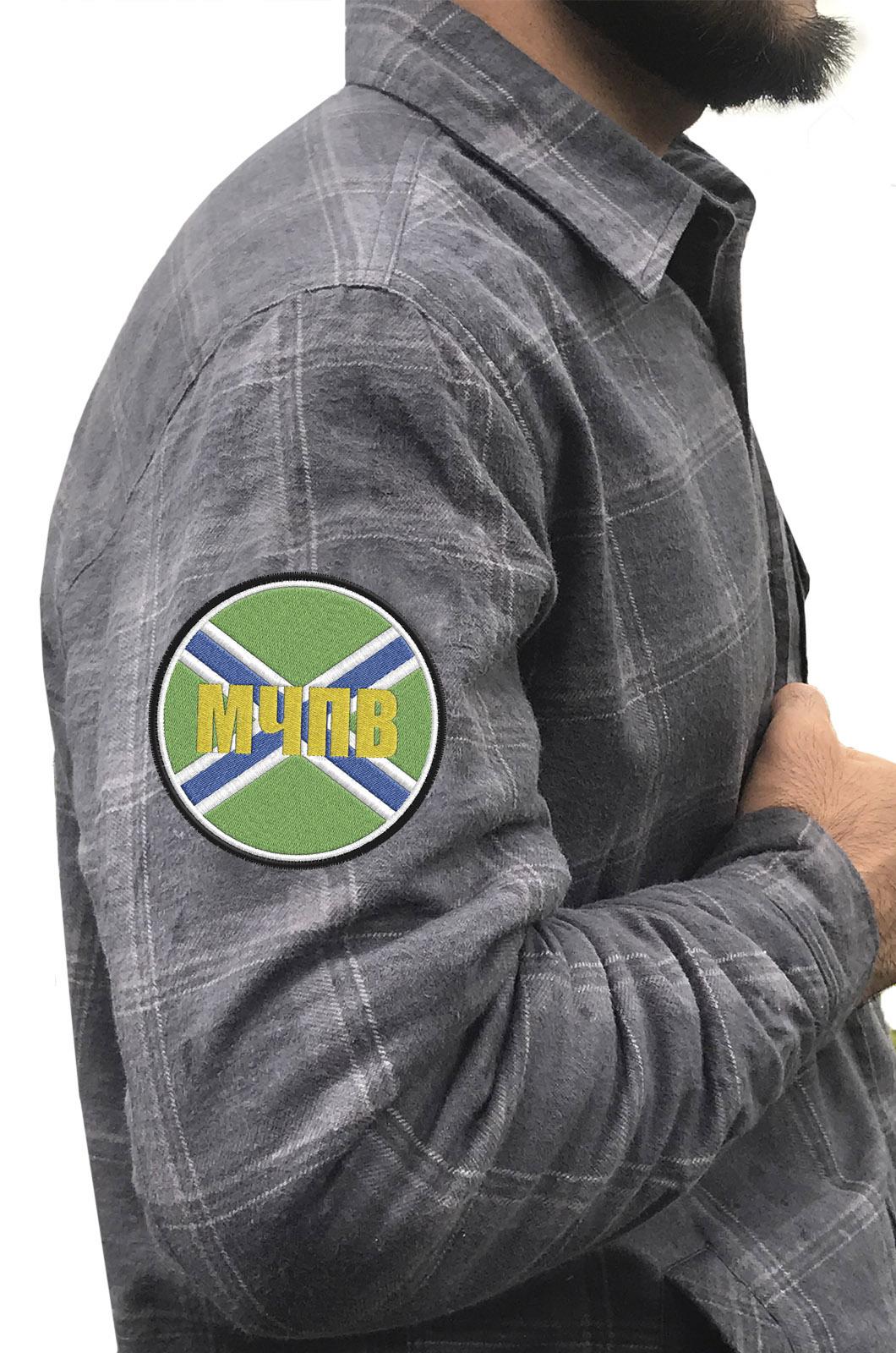 Мужская рубашка с нашивкой МЧПВ купить с доставкой