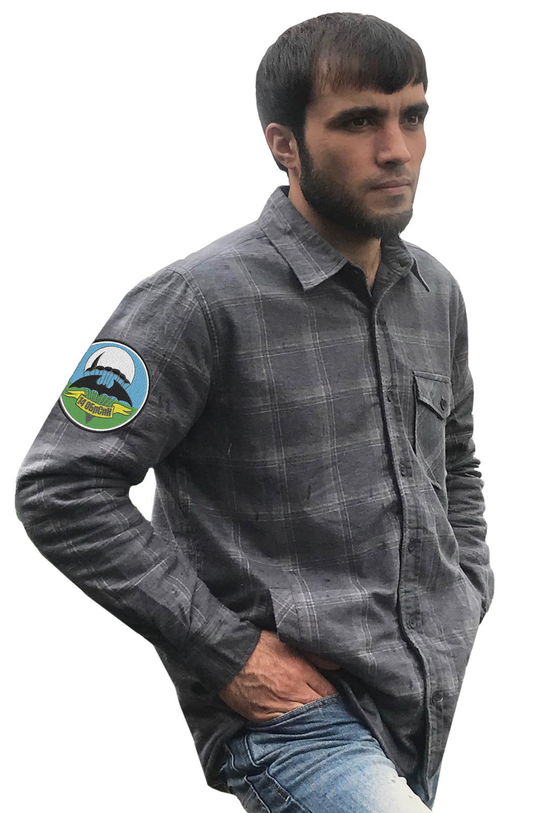 Мужская рубашка с шевроном 14 ОБрСпН