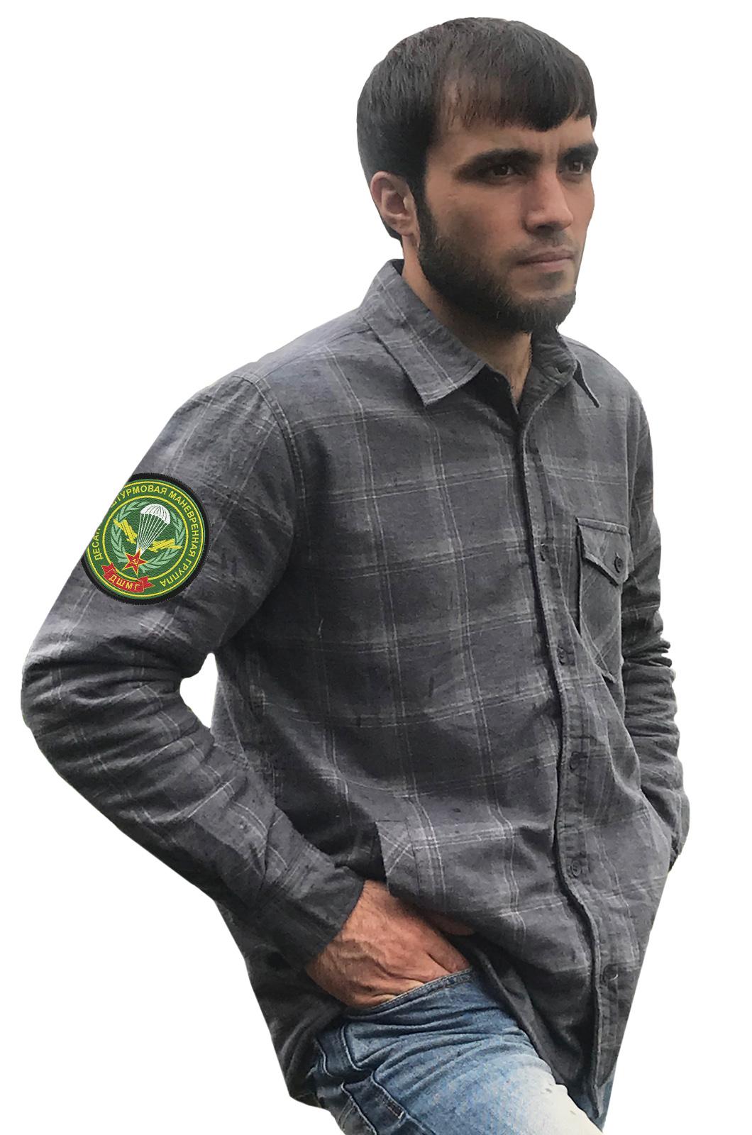 Мужская рубашка с шевроном ДШМГ