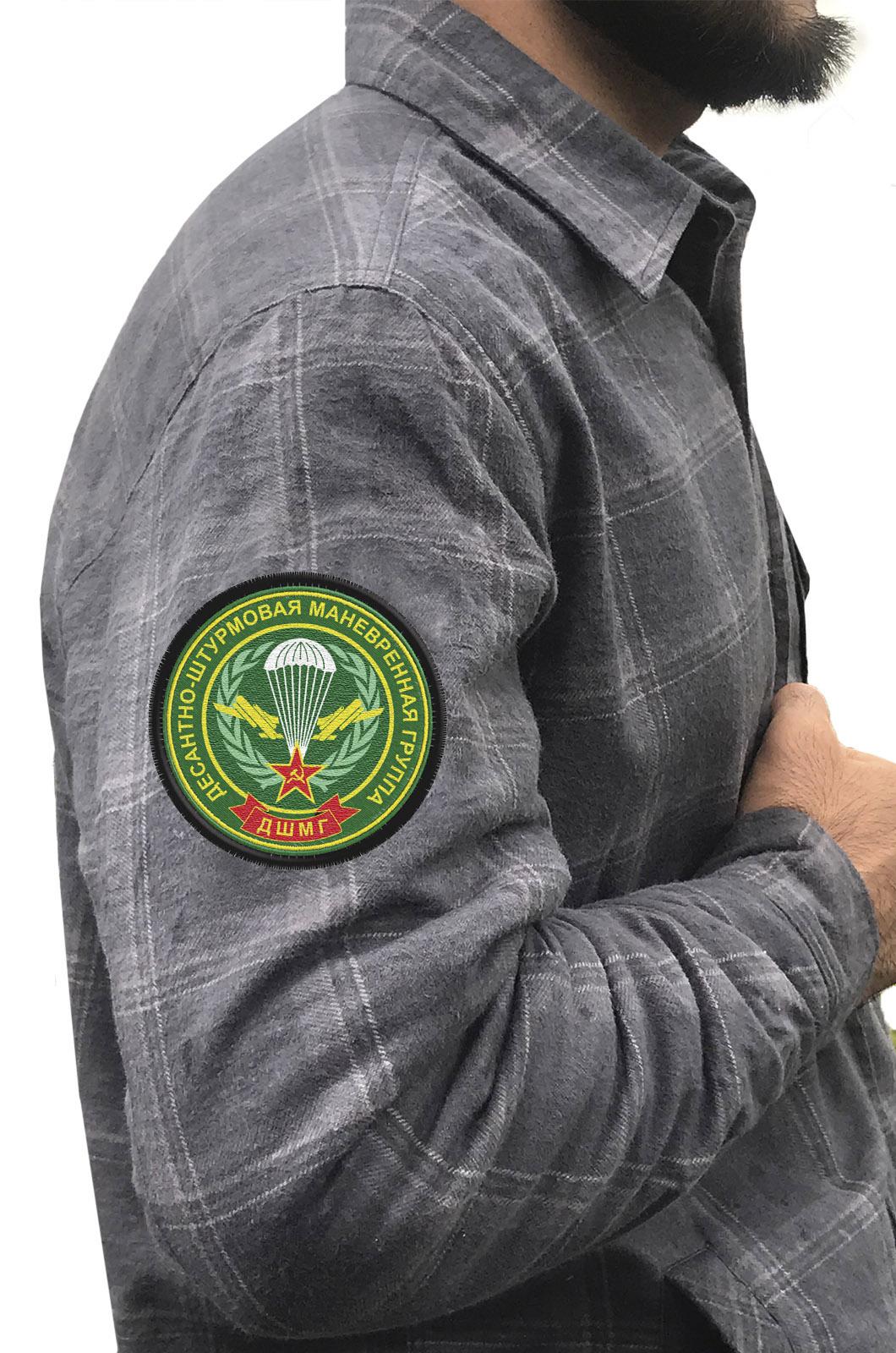 Мужская рубашка с шевроном ДШМГ купить с доставкой