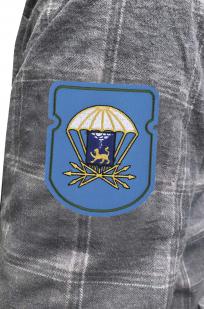 Мужская рубашка с вышитым шевроном 728 отдельный батальон связи 76 ДШД - купить в подарок