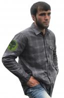 Мужская рубашка с вышитым шевроном Каратель