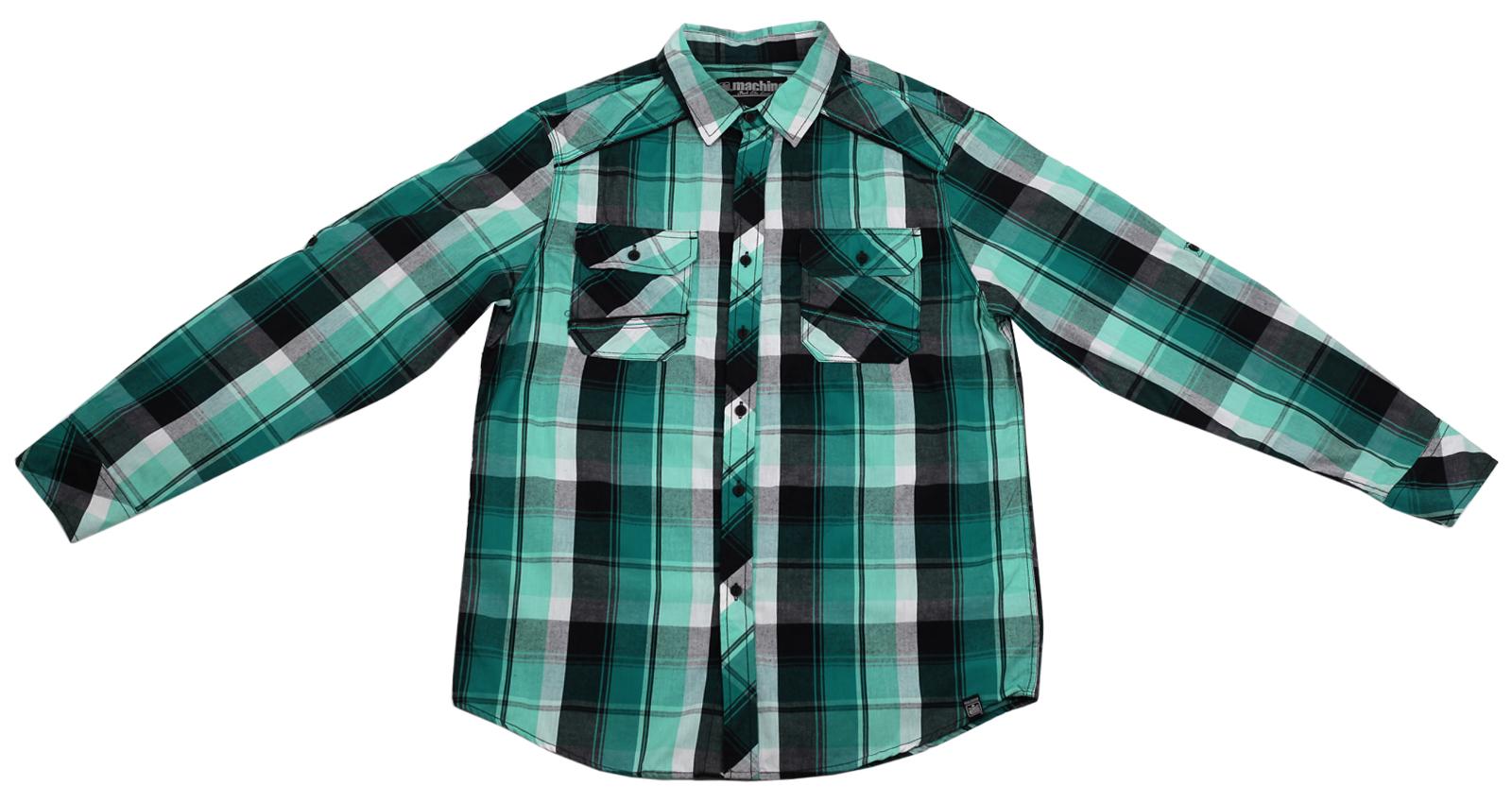Мужская рубашка в клетку Machine. 100% хлопок