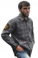 Мужская рубашка в клетку с нашивкой Морская пехота 155 ОБрМП КТОФ
