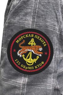 Мужская рубашка в клетку с нашивкой Морская пехота 155 ОБрМП КТОФ купить по лучшей цене