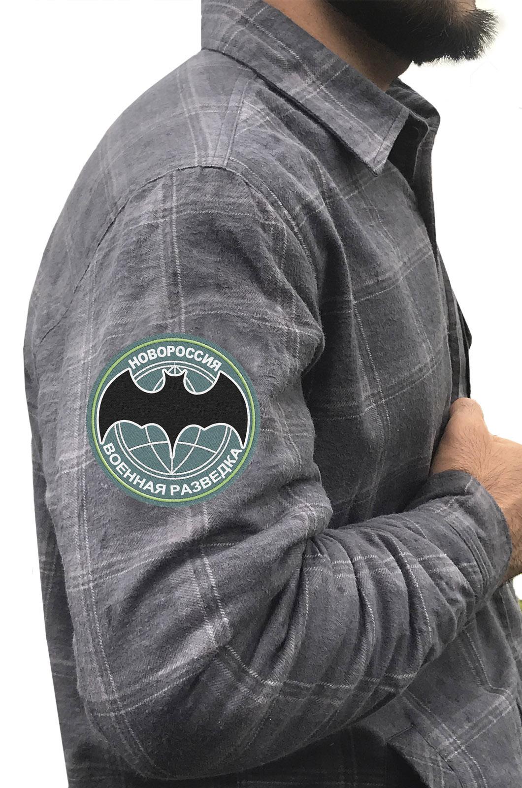 Мужская рубашка в нашивкой Военной разведки Новороссии купить в подарок