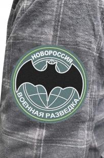 Мужская рубашка в нашивкой Военной разведки Новороссии купить с достакой