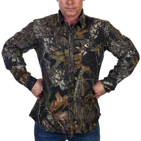 Мужская рубашка в стиле милитари от Mossy Oak