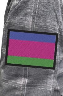 Мужская серая рубашка с вышитым шевроном Войска Кубанского - купить в Военпро