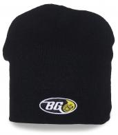 Мужская шапка BG черного цвета