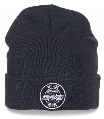 Мужская шапка Chevrolet серого цвета