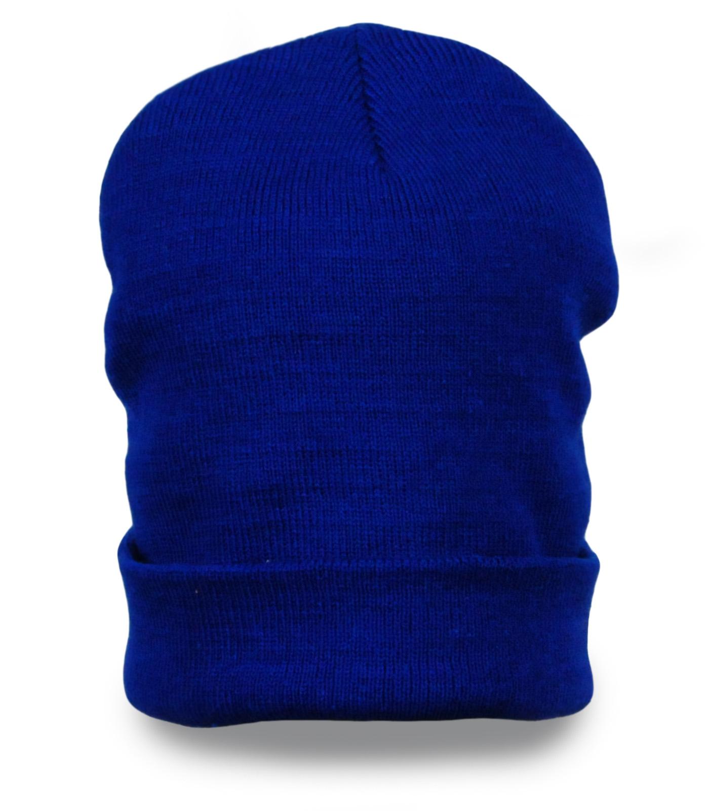 Однотонная шапка чулок (носок) - унисекс
