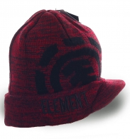 Мужская шапка Element. Комфортная модель с козырьком. Надежная защита от ветра и холода